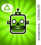 illustration of a green... | Shutterstock . vector #119698159