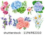 large collection of elements... | Shutterstock . vector #1196982310