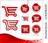vector design kit of shopping... | Shutterstock .eps vector #119698240