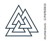 interwoven triangles  valknut.... | Shutterstock .eps vector #1196983810