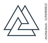 interwoven triangles  valknut.... | Shutterstock .eps vector #1196983813