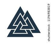 interwoven triangles. valknut.... | Shutterstock .eps vector #1196983819