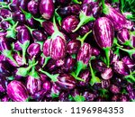 Small photo of brinjal in market