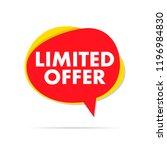limited offer label sale | Shutterstock .eps vector #1196984830