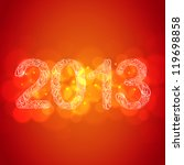red new year 2013 card | Shutterstock . vector #119698858