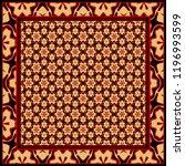 design for square fashion print.... | Shutterstock .eps vector #1196993599