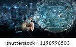 businessman on blurred... | Shutterstock . vector #1196996503