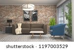 interior of the living room. 3d ... | Shutterstock . vector #1197003529