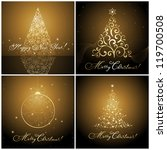 set of christmas banners  ... | Shutterstock .eps vector #119700508
