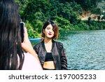 pokhara nepal october 6  2018... | Shutterstock . vector #1197005233