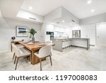large kitchen and dining areas... | Shutterstock . vector #1197008083
