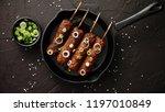 barbecued turkey kebab...   Shutterstock . vector #1197010849