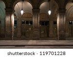 facade of building with columns ... | Shutterstock . vector #119701228