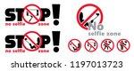 safety first no selfie zone no... | Shutterstock .eps vector #1197013723