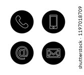 contact buttons set   email ... | Shutterstock .eps vector #1197018709