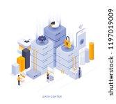 modern flat design isometric... | Shutterstock .eps vector #1197019009
