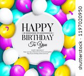happy birthday greeting card.... | Shutterstock .eps vector #1197020950