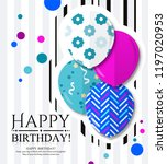 happy birthday invitation card... | Shutterstock .eps vector #1197020953