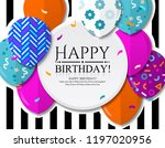 happy birthday greeting card... | Shutterstock .eps vector #1197020956