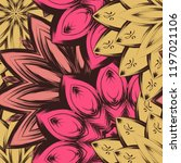 seamless floral background.... | Shutterstock .eps vector #1197021106