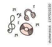 cd disk and headphones in...   Shutterstock .eps vector #1197023230