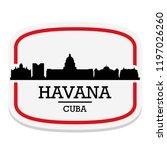 havana cuba label stamp icon... | Shutterstock .eps vector #1197026260
