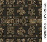 vector maya seamless pattern.... | Shutterstock .eps vector #1197026266