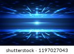 vector digital speed technology ...   Shutterstock .eps vector #1197027043