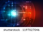 abstract technology chip... | Shutterstock .eps vector #1197027046