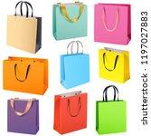 vector color paper bags... | Shutterstock .eps vector #1197027883