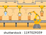 robotic packing conveyor belt... | Shutterstock .eps vector #1197029359