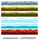 seamless land layers. dirt... | Shutterstock .eps vector #1197030319