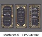 art deco art banner. fancy... | Shutterstock .eps vector #1197030400