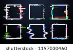 glitch square frame. trendy... | Shutterstock .eps vector #1197030460