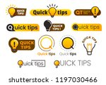 logo quick tips. yellow... | Shutterstock .eps vector #1197030466