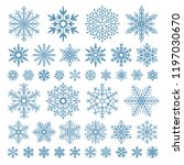 flat snowflakes. winter... | Shutterstock .eps vector #1197030670