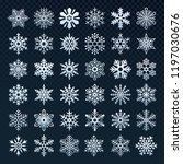 snowflakes silhouette. winter... | Shutterstock .eps vector #1197030676