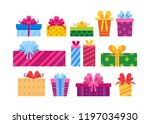 collection of different cartoon ... | Shutterstock .eps vector #1197034930