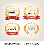 four vector vintage badges... | Shutterstock .eps vector #119703529
