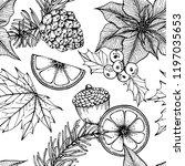 christmas pattern seamless... | Shutterstock .eps vector #1197035653