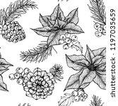 christmas pattern seamless... | Shutterstock .eps vector #1197035659
