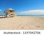 beautiful crandon park beach... | Shutterstock . vector #1197042706