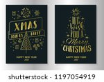 christmas and new year greeting ... | Shutterstock .eps vector #1197054919