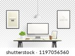 realistic vector office... | Shutterstock .eps vector #1197056560
