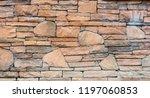 o d grunge yellow  stone wall... | Shutterstock . vector #1197060853