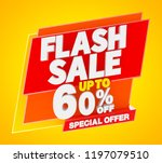flash sale up to 60   off... | Shutterstock . vector #1197079510