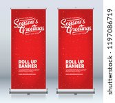 roll up banner design template  ... | Shutterstock .eps vector #1197086719