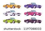 cabriolet car set in bright... | Shutterstock .eps vector #1197088033