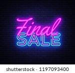 final sale concept banner in... | Shutterstock .eps vector #1197093400