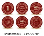 set of premium quality  100 ... | Shutterstock .eps vector #119709784